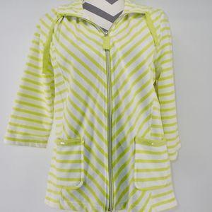 Onque Casuals Zip Up Jacket Medium Striped L/S